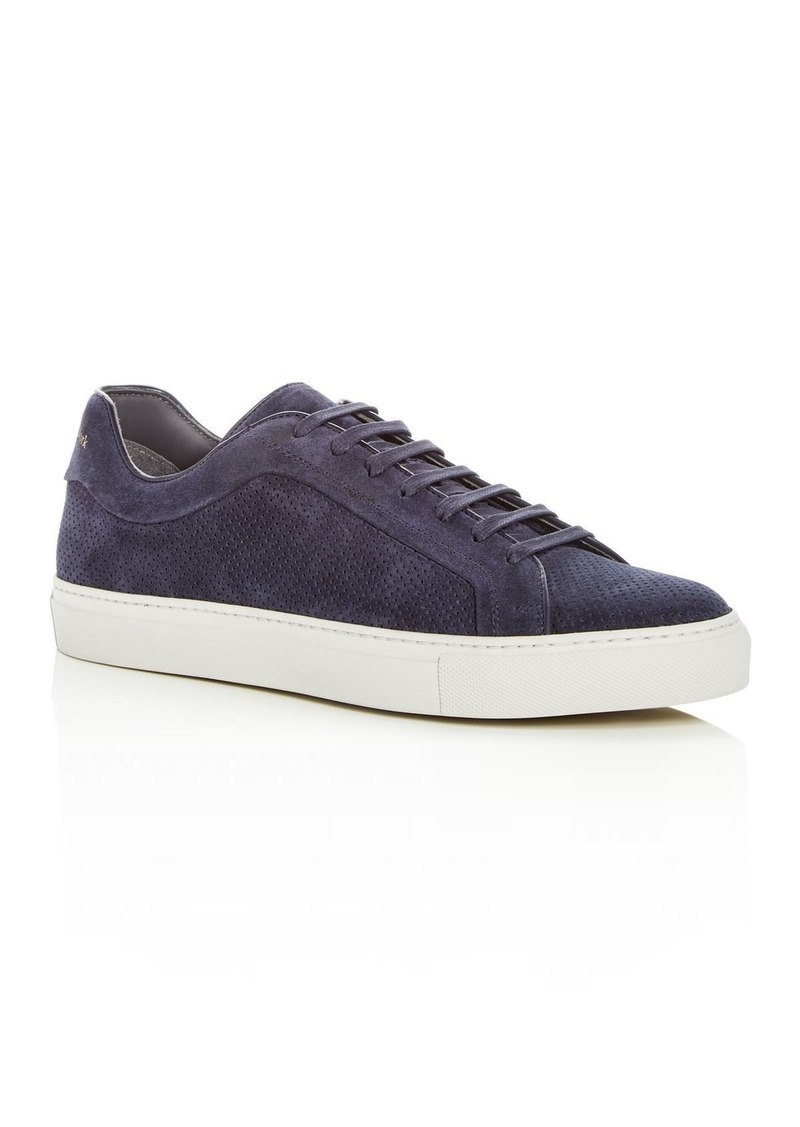 To Boot New York Men's Hendrick Perforated Suede Lace Up Sneakers