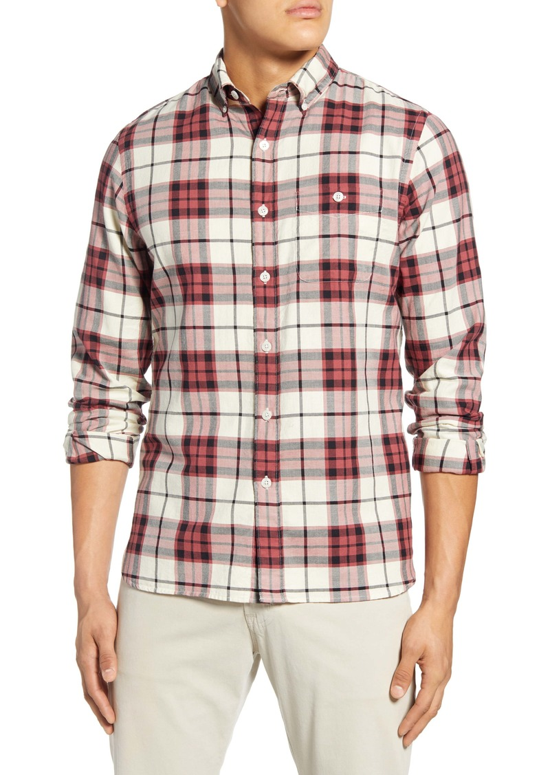 Todd Snyder Regular Fit Plaid Button-Down Flannel Shirt