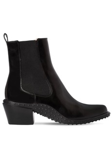Tod's 50mm Brushed Leather Cowboy Boots