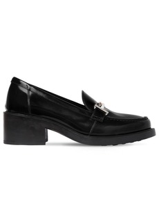 Tod's 50mm Double T Leather Loafer Pumps