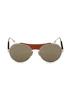 Tod's 54MM Round Sunglasses