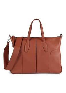 Tod's Bauletto Leather Top Handle Bag