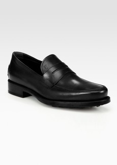Tod's Boston Gomma Leather Loafers