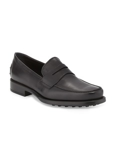 Tod's Boston Leather Penny Loafer  Black