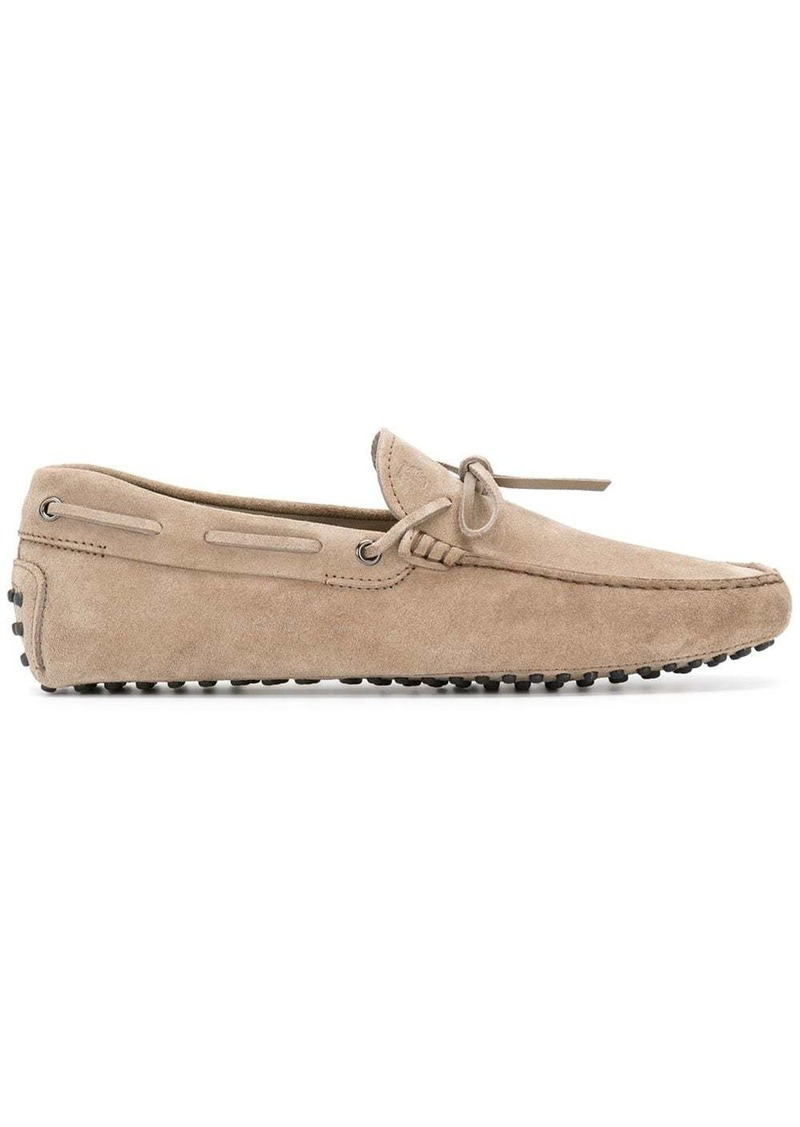 Tod's bow suede loafers