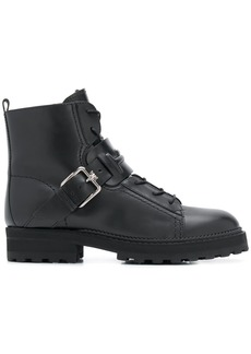 Tod's buckled lace-up ankle boots