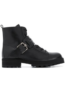 Tod's buckled strap boots