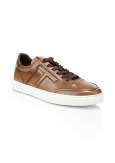 Tod's Casetta Leather Lace-Up Sneakers