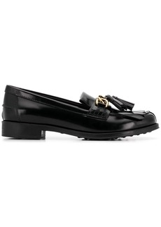 Tod's chain trim loafers