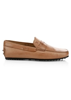 Tod's City Gommini Leather Penny Loafers
