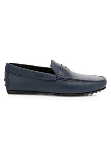 Tod's City Gommini Little Shark Textured Leather Drivers