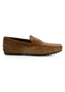 Tod's City Gommini Suede Mocassino Penny Loafers