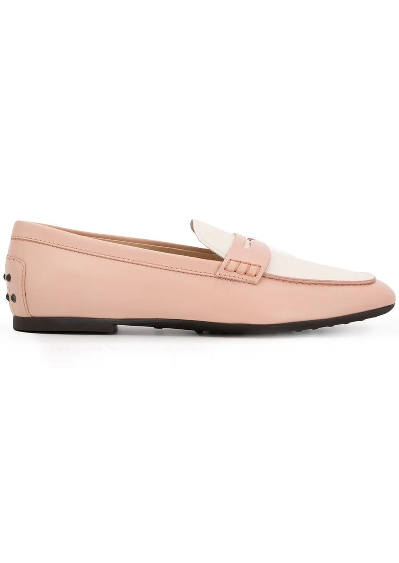 Tod's colour-block leather loafers