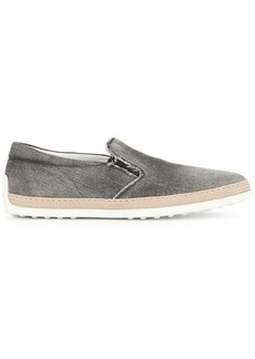Tod's contrast slip-on loafers