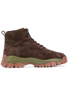 Tod's contrast sole trekking boots