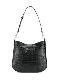 Tod's croc effect hobo handbag