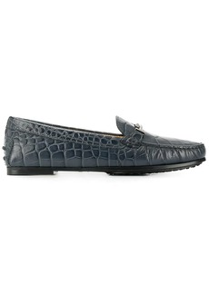 Tod's croc effect loafers