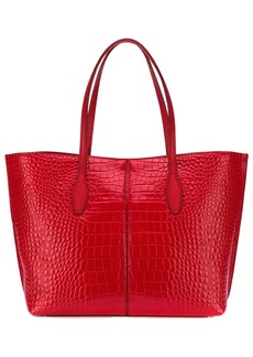 Tod's croc-effect tote