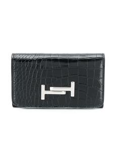 Tod's croc-effect wallet