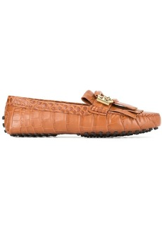 Tod's crocodile effect Double-T loafers