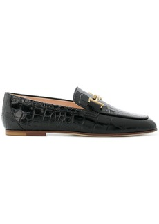 Tod's crocodile effect loafers