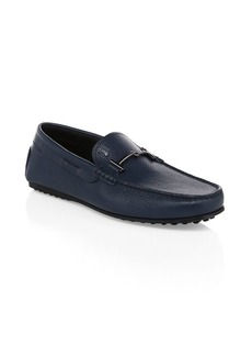 Tod's Doppia T Gommino Leather Driving Loafers