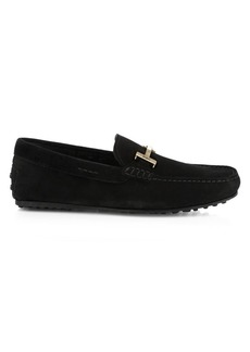 Tod's Double T City Gommini Suede Drivers