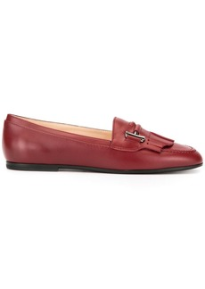 Tod's Double T fringed loafers