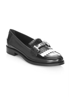 Double-T Kiltie Leather Loafers