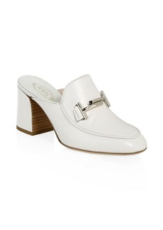 Double T Leather Mules