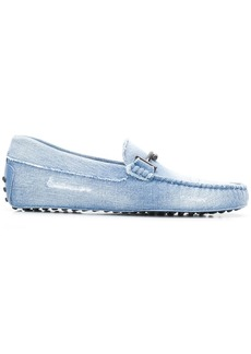 Tod's Double-T logo denim loafers