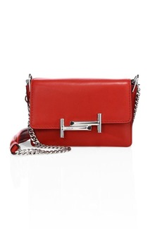 Tod's Double T Mini Leather & Chain Shoulder Bag