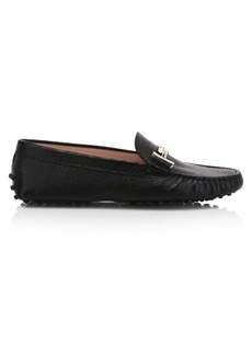 Tod's Double T Saffaino Leather Driver Loafers
