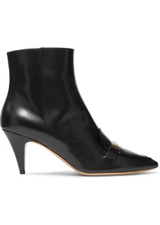 Tod's Embellished Leather Ankle Boots