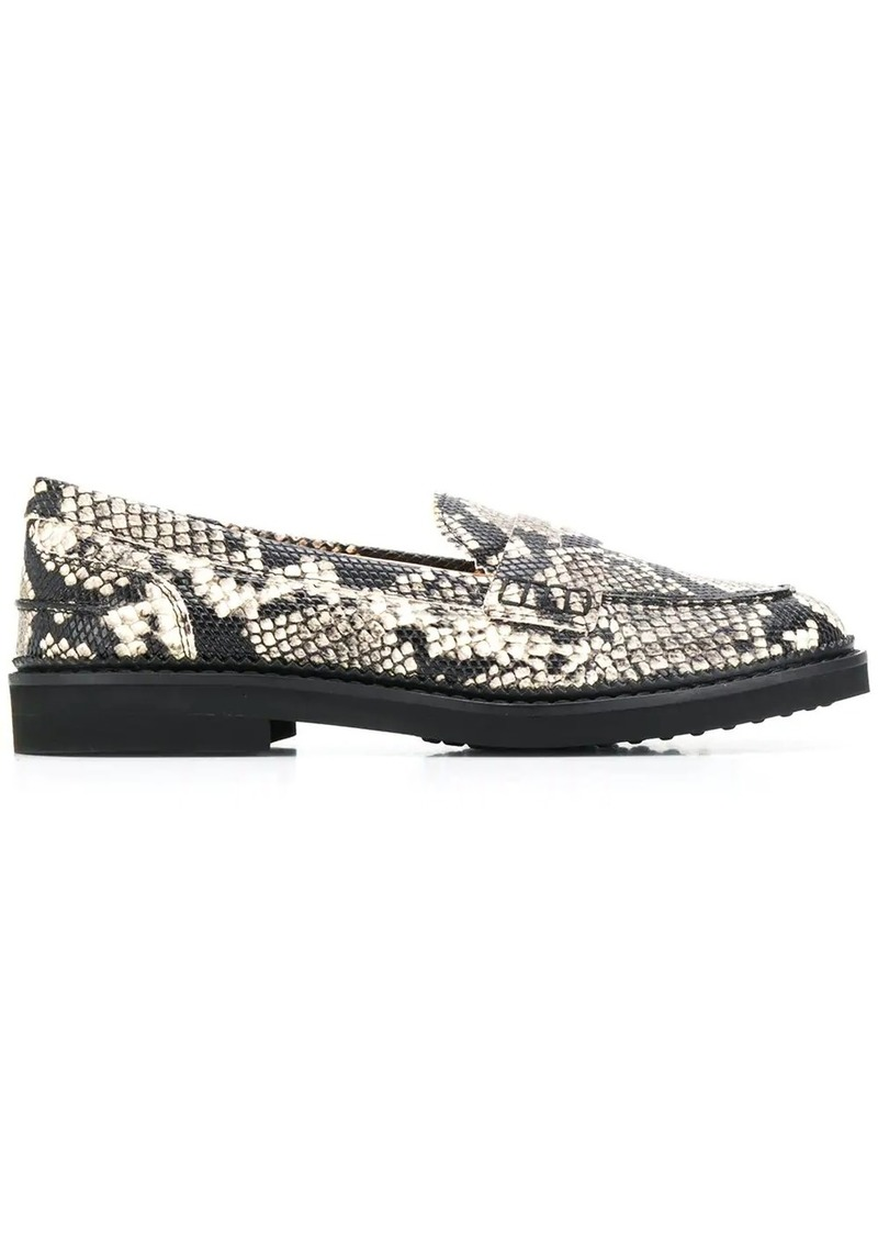 Tod's embossed snakeskin effect loafers