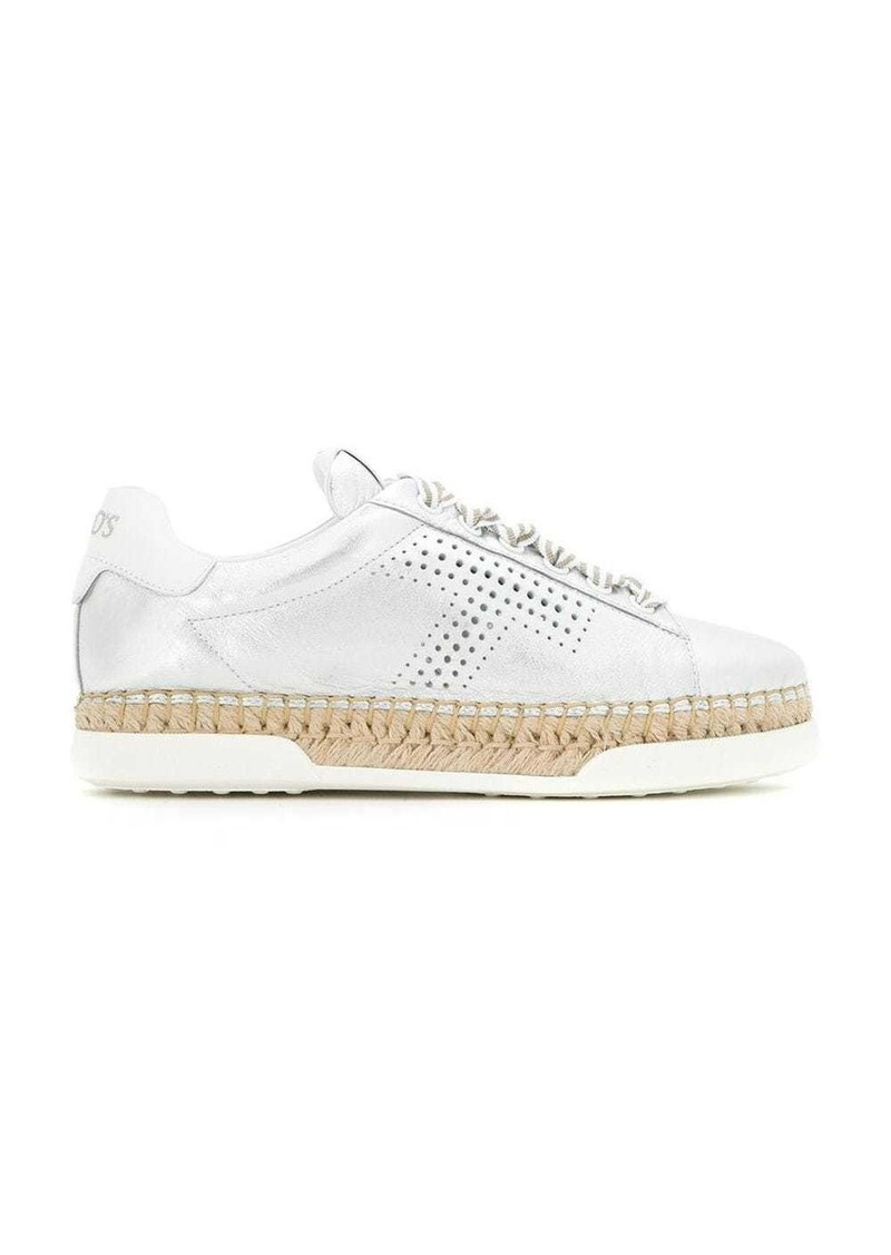 Tod's espadrille perforated sneakers