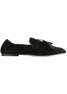 Tod's feather appliqué loafers