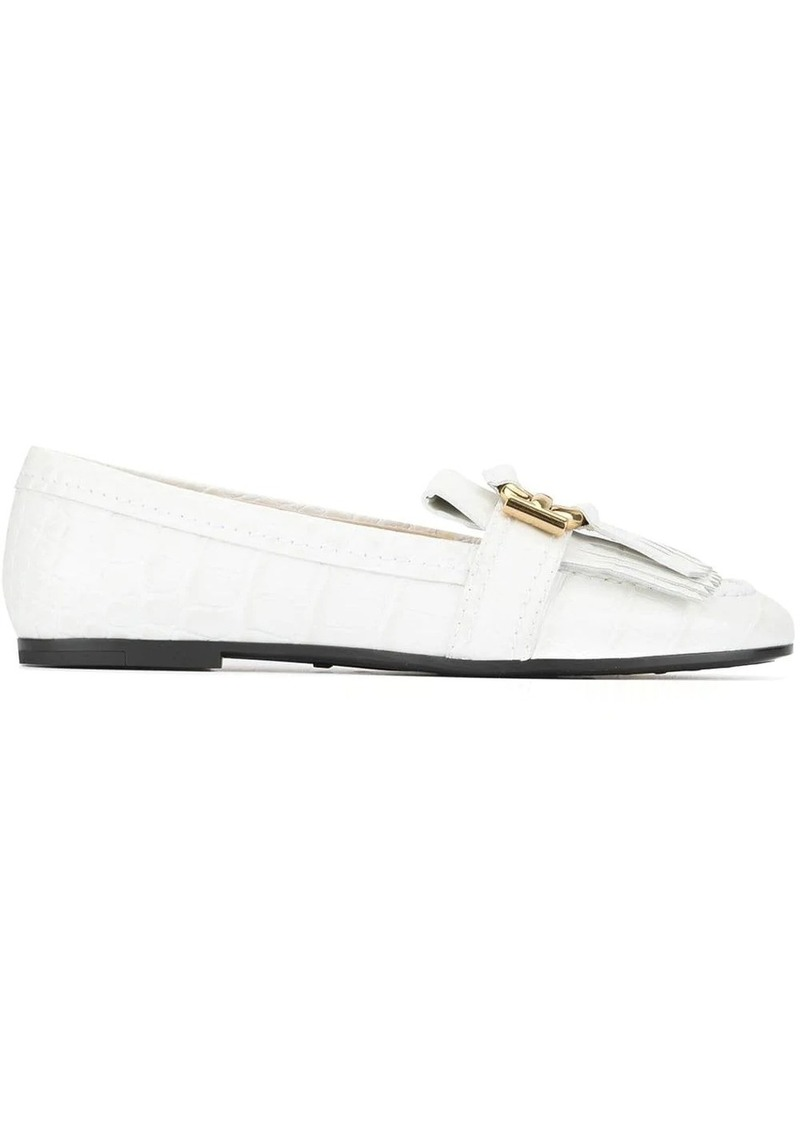 Tod's fringed trim loafers
