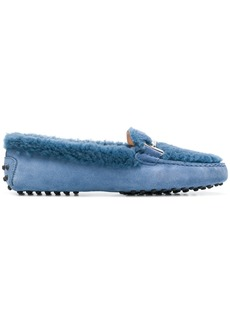 Tod's Gimmono fur moccasins