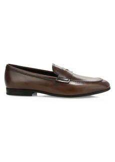 Tod's Gomma 85B Leather Mocassino Penny Loafers