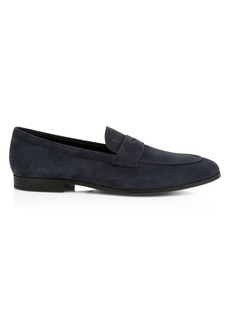 Tod's Gomma 85B Suede Mocassino Penny Loafers
