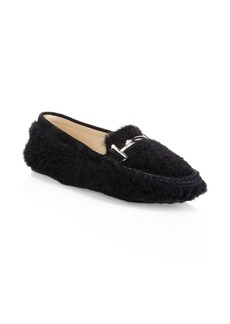 Tod's Gomma Lu Doppia Suede & Sheepskin Loafers