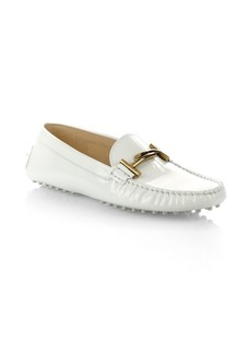 Tod's Gommini Double T Patent Leather Loafers