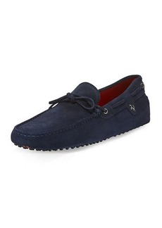 Tod's Gommini Suede Tie Driver