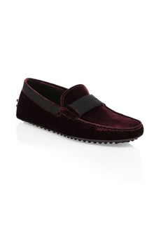 Tod's Gommini Velvet Loafers