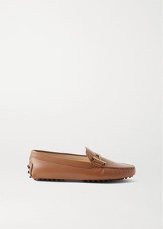 Tod's Gommino Doppia Embellished Leather Loafers