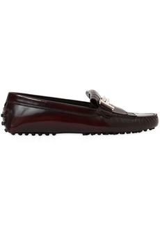 Tod's Gommino Double T Fringed Leather Loafers