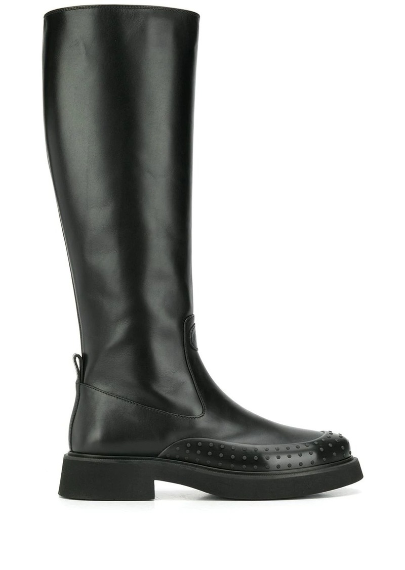 Tod's Gommino embellished knee-height boots