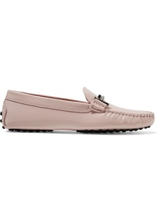 Tod's Gommino Embellished Patent-leather Loafers