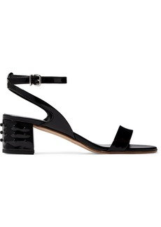 Gommino patent-leather sandals